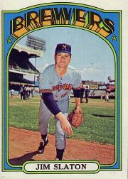 1972 Topps Baseball Cards      744     Jim Slaton RC